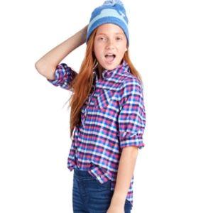 Vineyard Vines Girl's 2T Soft Flannel Shirt